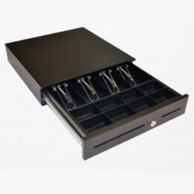 ECD410-BLK - ECD410 Cassetto Registratore di Cassa, 24V, Nero, 410 x 420 x 103mm, Cavo RJ12 3mt